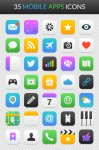 Mobile apps icon set
